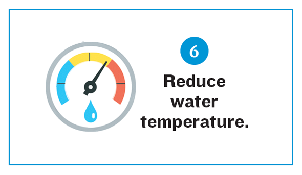 Reduce water temperature