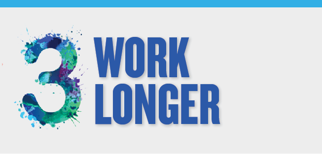 Image slide detailing the benefits of working longer