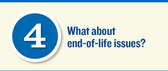(Slide 4) What about end of life issues