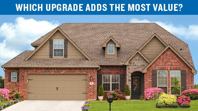 The image has a house with a heading that says Which upgrade adds the most value.