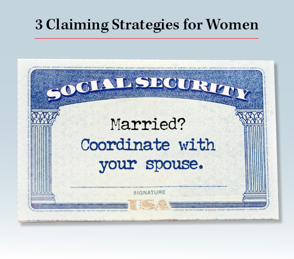 Title: 3 Claiming Strategies for Women. Married? Coordinate with your spouse.