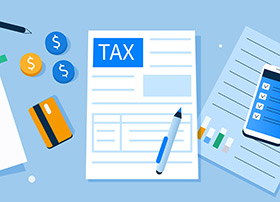 Article Image - Illustration of tax paperwork