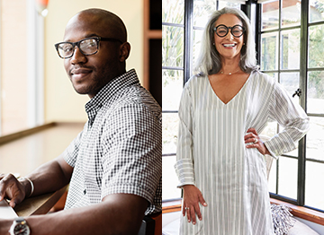 Article Image - Portraits of a man and a woman
