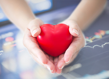 Article Image - Hands holding an ornamental heart