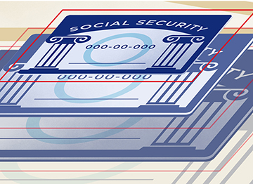 Article Image - A blue dart in the middle of a social security card
