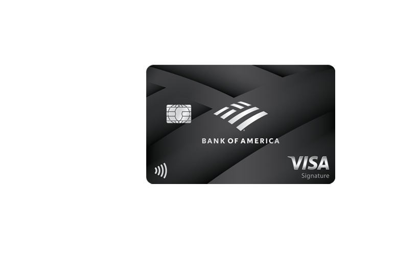 Image of a Bank of America premium rewards credit card